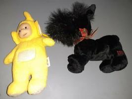 AVON Teletubby yellow Laa-Laa lala keychain Clip Vintage 1998 Scottie Do... - $23.66