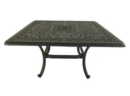 "Patio coffee table square 36"" Elisabeth cast aluminum outdoor furniture Bronze image 2"