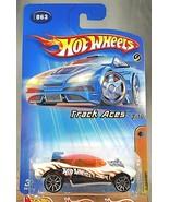 2005 Hot Wheels #63 Track Aces 3/10 FLASHFIRE White w/Chrome 10 Spoke Wh... - $7.35