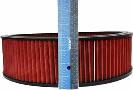 """HIGH FLOW WASHABLE & REUSABLE ROUND AIR FILTER ELEMENT REPLACEMENT 14"""" X 4"""" RED image 3"""