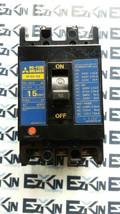 MITSUBISHI NF30-SS  NO-FUSE CIRCUIT BREAKER 15AMP POLE 3P AC 600V - $31.03