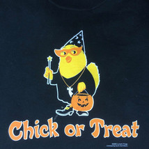 Halloween Sweatshirt  L XL Chick or Treat New Humor JerZees Black Cotton... - $25.25