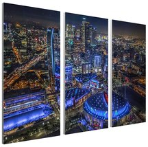 """Pingo World 0817QIQYJ2A """"Los Angeles Downtown at Night Skyline"""" Gallery ... - $158.35"""