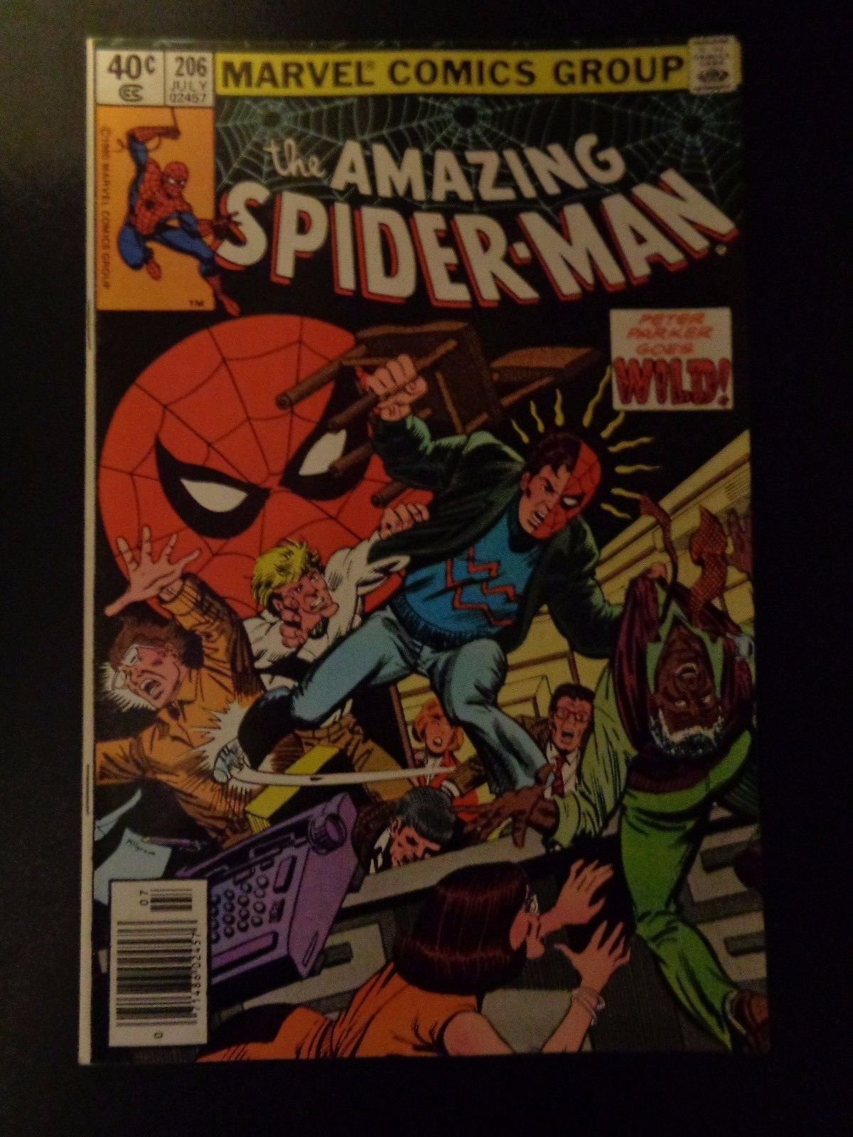 Amazing Spider-Man #206 Marvel Comic Book VF (8.0) Condition 1985 Awesome Book!