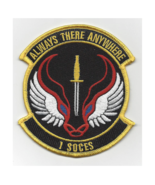 """4"""" AIR FORCE ALWAYS THERE ANYWHERE 1 SOCES 1ST SPECIAL OPERATIONS PATCH - $23.74"""