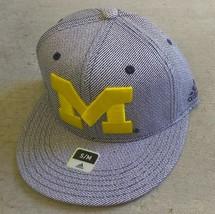 Adidas NCAA Michigan Football Hat Cap Flat Brim Sz S/M - $20.00
