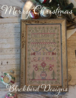 Merry Christmas #1 Christmas Sampler series cross stitch Blackbird Design