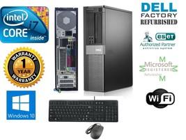 Dell Computer 980 Pc Desktop Core I7 870 2.93GHz 4GB 120GB Ssd Window 10 Hp 32 - $433.07