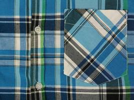Men's Plaid Checkered Button Down Short Sleeve Regular Fit Dress Shirt - MEDIUM image 2