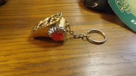 RR6)    Brass Tone Pre-owned Survival whistle Keychain, keyring Key Chai... - $9.89