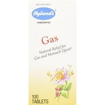 Hyland's Gas Relief Tablets, Natural Relief for Gas and Upset Stomach, 100 Count - $12.99