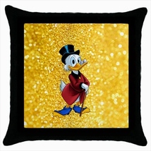 Throw pillow case cover scrooge mcduck gold vault greed - $19.50