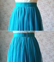 Blue Bridesmaid Tutu Skirt 2 Piece Outfit High Waisted A-Line Bridesmaid Skirt image 7