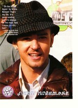Justin Timberlake Nsync teen magazine pinup clippings 90's Kids Choice A... - $1.50