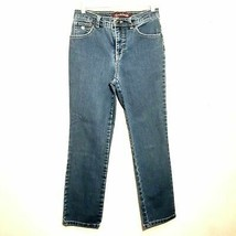 GLORIA VANDERBILT womens jeans 6x27 blue high rise waist straight stretc... - $25.88