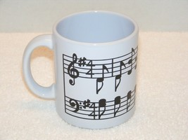 WAECHTERSBACH WEST GERMANY BLACK & WHITE MUSICAL NOTES COFFEE MUG (G02) ... - $14.99