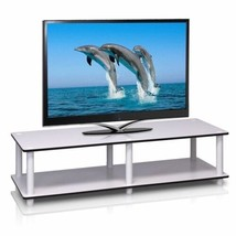 White Finish 2-Tier TV Stand Media Storage Console Shelving Gaming 41 In... - $43.46