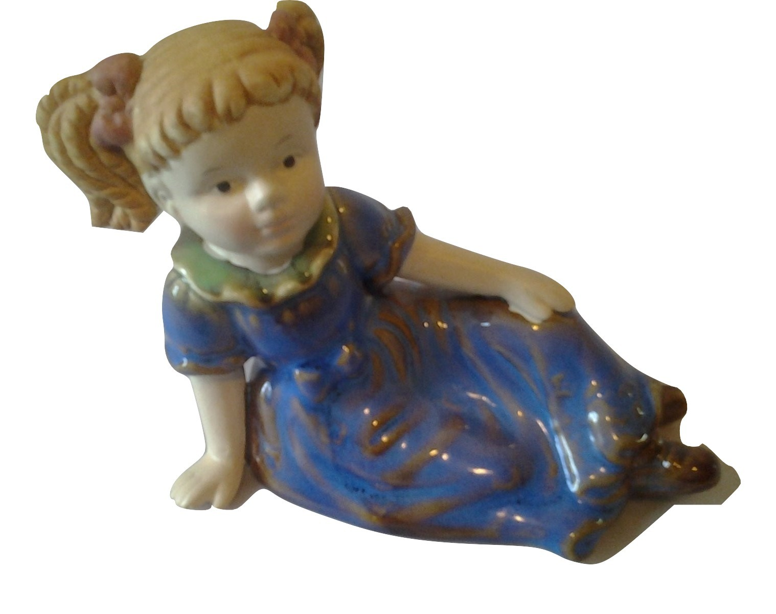 Ceramic blonde girl figurine