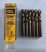 """DeWalt DD4123B6 23/64"""" Cobalt Screw Machine Drill Bits 6 Pack Germany - $17.82"""