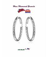 """LARGE 2.5"""" Swirl Twists Hoop Earrings Silver Plate.USA SELLER-CHEAP - $8.95"""