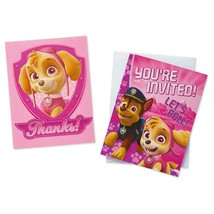 Paw Patrol Girls Invitations Thank You Postcards 8 Ct Birthday Party Supplies - $5.89