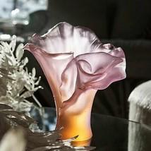 Daum Vase Petit ambre-rose Arum Rose   h 17 cm 05723-1 Crystal FRANCE - $1,197.90