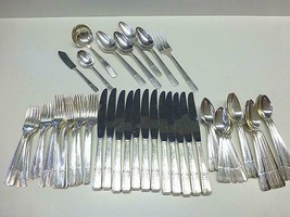 66 Pc Oneida Prestige GRENOBLE Silverplate Flatware Service  8+ Extras M... - $128.69