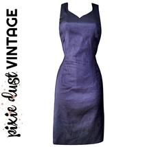 Vintage Dress Purple Party Metallic Glitter 80s 90s Sweetheart 1980s Siz... - $43.43