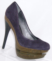 Jessica Simpson 'Colie' purple leather round toe suede platform heel 6B - $26.32