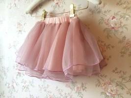 Baby GIRL Skirt Flower Girl Tutu Skirt Peach Toddler Tulle Skirt Baby Shower NWT image 3