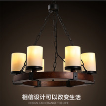Camino Round Chandelier E14 Light Ceiling Lamp Milk Glass Home Lighting ... - $375.22