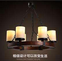 Camino Round Chandelier E14 Light Ceiling Lamp Milk Glass Home Lighting Fixture - $375.22