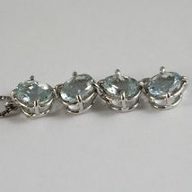 Necklace White Gold 750 - 18K, Pendant Aquamarine Oval CT 3.20 Chain Venetian image 4