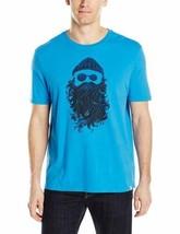 Large Life is Good Men's Salty Beard Smooth Tee Shirt Marina Blue T-Shirt NEW