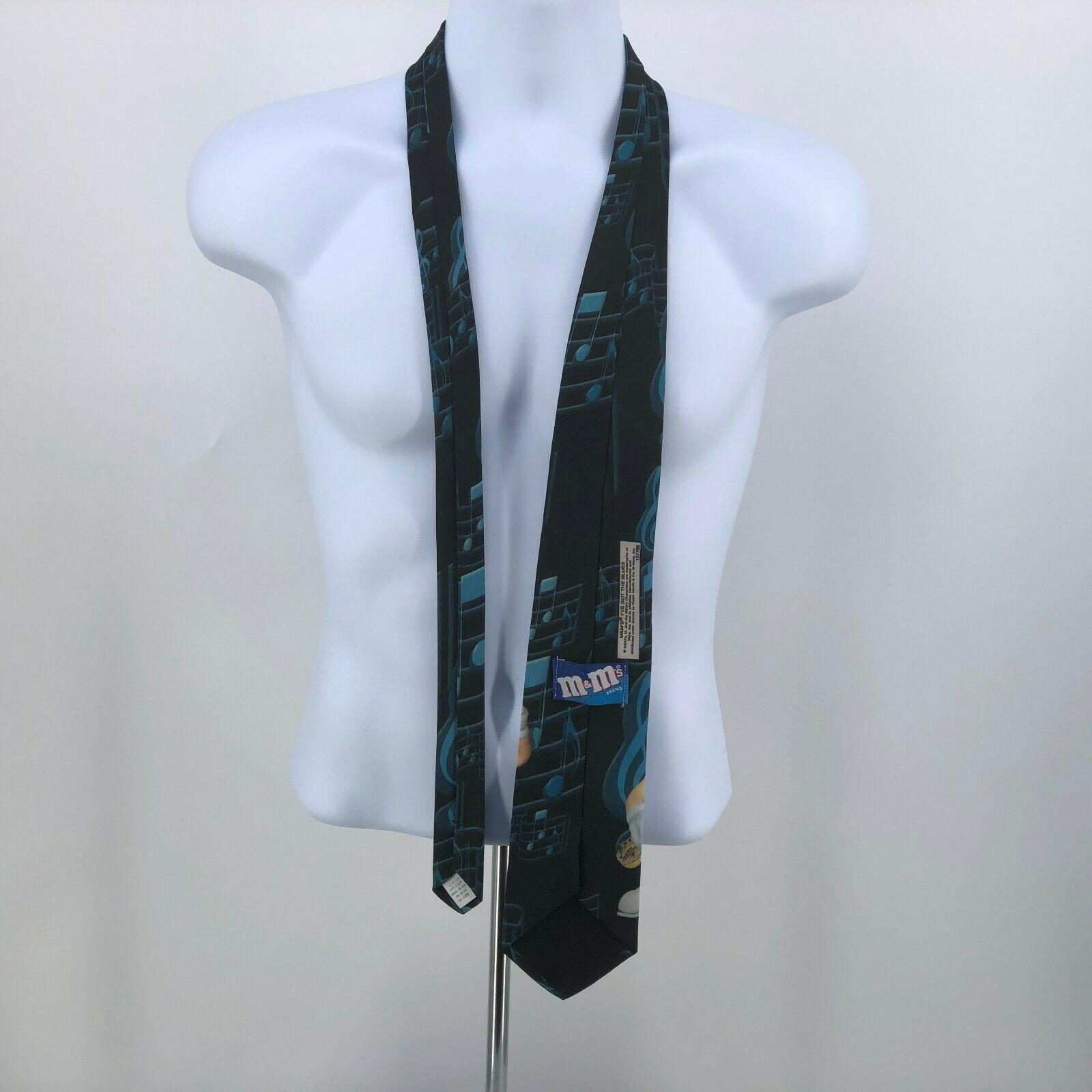 Vintage Whimsical M&Ms Candy I've Got The Blues Novelty Neck Tie USA Made  image 3