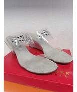 New York Transit Fan of MineBeaded Silver sandals Size 9.5 Wedge heel - $26.59