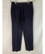 Ralph Lauren Pants 4 Navy Trousers Zip Front Poly Stretch Blend Lightweight - $38.61