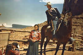 John Wayne in Fort Apache Monument Valley Utah with Indians 18x24 Poster - $23.99