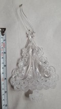Acrylic BEAUTIFUL Winter Christmas TREE Ornament • looks like ice • pre-... - $9.46