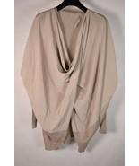 All Saints Sweater Silk Itat Shurg Silk Merino Wool Biege Brown  - $24.75