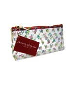 NEW Dooney & Bourke Logo On the Go Cosmetic Case Bag Clear Multicolor Red - $42.56