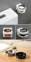 Stainless Steel Ashtray Creative Wall Mounted Bathroom Ash Storage Portable Box image 11