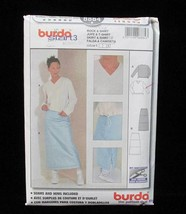 Skirt & Shirt Sweater Sewing Pattern Size 6 8 10 12 14 16 Misses # 8884 ... - $5.93