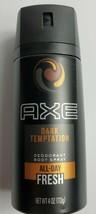 Axe Mens Dark Temptation Deodorant Body Spray All Day Fresh 4 Oz - $8.60