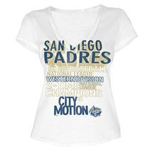 MLB  Woman's San Diego Padres WORD White Tee with  City Words L - $15.99