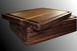 Walnut Cutting Board Extra Large, 18 x 12 x 1 IN, Edge Grain, Reversible... - $136.05