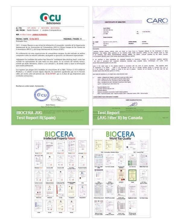 Biocera Water Filter Pitcher Alkaline Anti Oxidant water filter jug  2 Cartridge