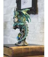 Ebros Gift Battle Suit Armored Green Pagoda Dragon Perching On Gemstone ... - €13,89 EUR