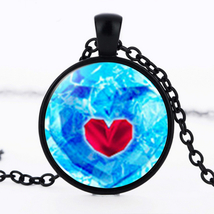 Frigid Heart Cabochon Necklace #9384 >> Combined Shipping - $3.75