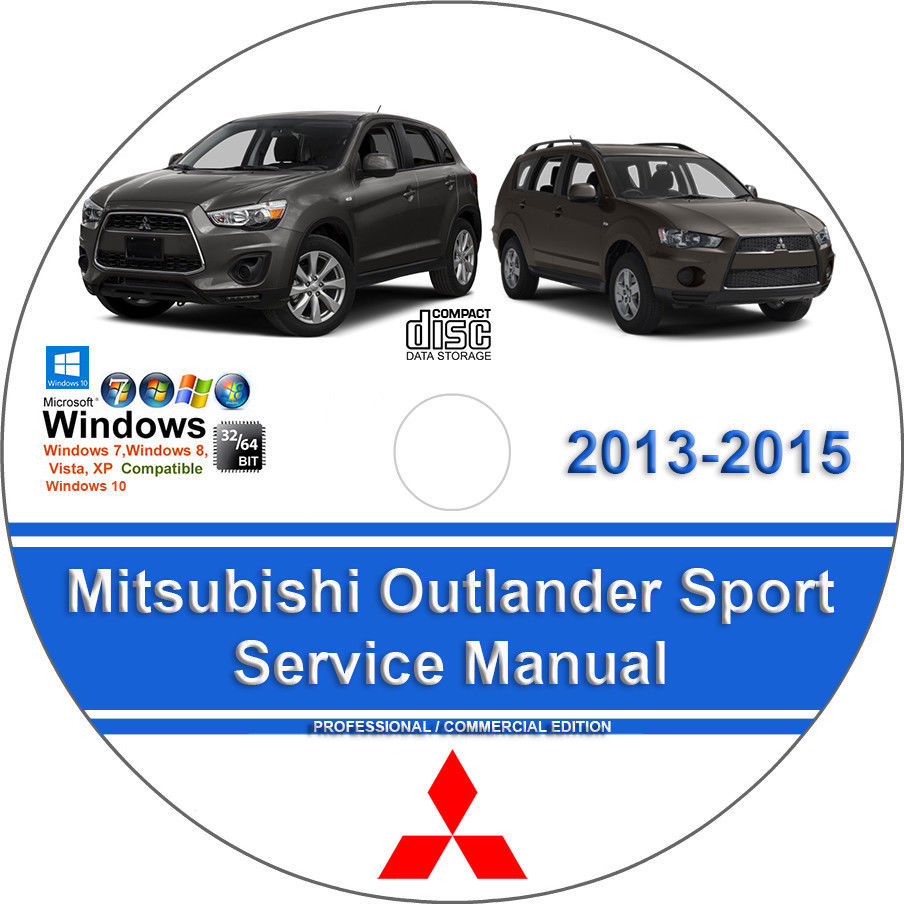 18. 18. Mitsubishi Outlander Sport 2013 2014 2015 Factory Workshop Service  Repair Manual. Free Shipping